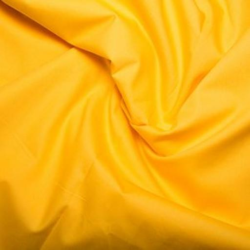 Yellow cotton poplin