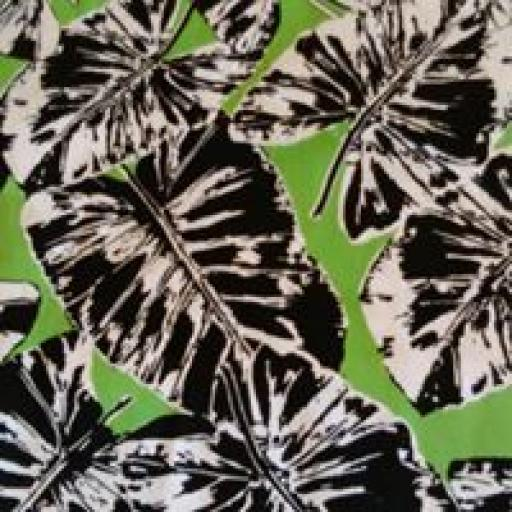Cotton sateen- Lime leaf