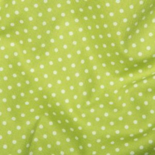 Lime Spot Cotton Poplin