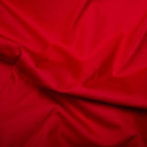 Scarlet red cotton poplin