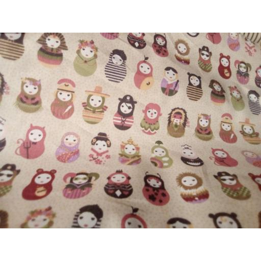 Russian Dolls cotton poplin