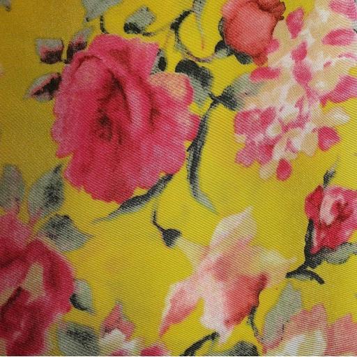Peachskin- yellow floral