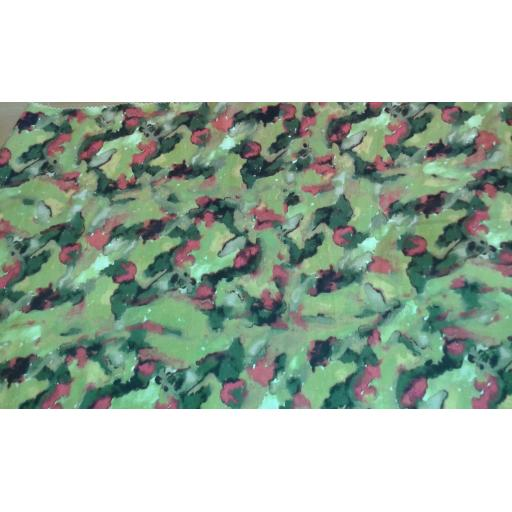 Cotton sateen- Yellow smudgy floral