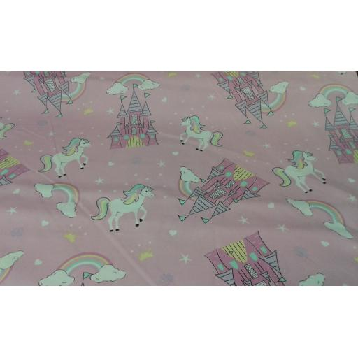 Unicorn cotton fabric (large)