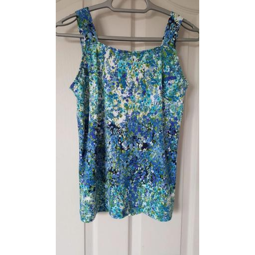 Blue polyester floral Jersey