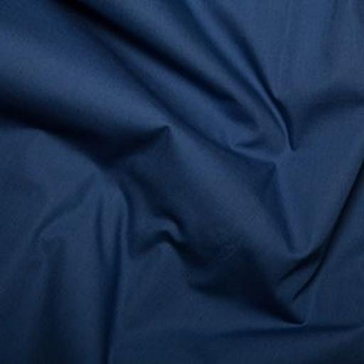 Navy cotton poplin