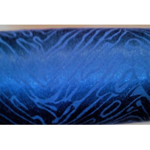 Stretch jacquard- royal blue polyester