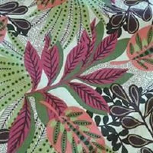 Border print floral cotton lawn