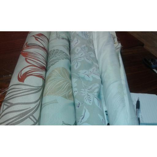 Curtain fabric mixed