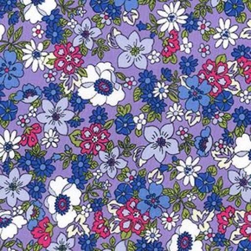 Funky flower cotton poplin (lots of colours)