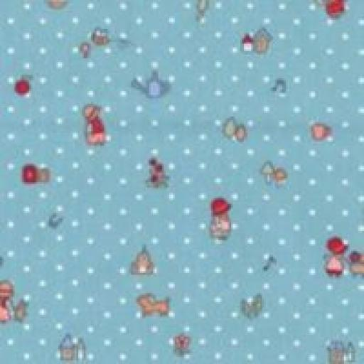 Blue Spot Girl Cotton Poplin