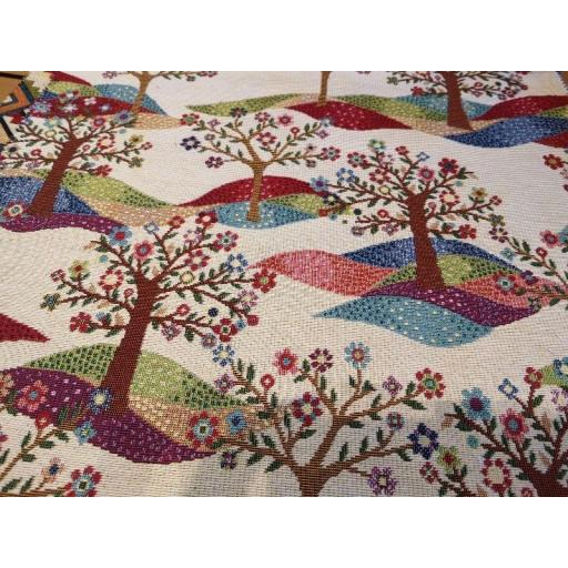 """Tree of life"" Tapestry fabric by Chatham Glyn"