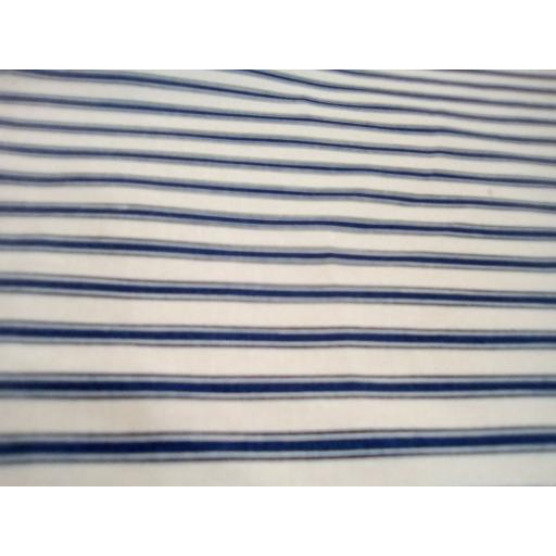 Navy stripe cotton poplin
