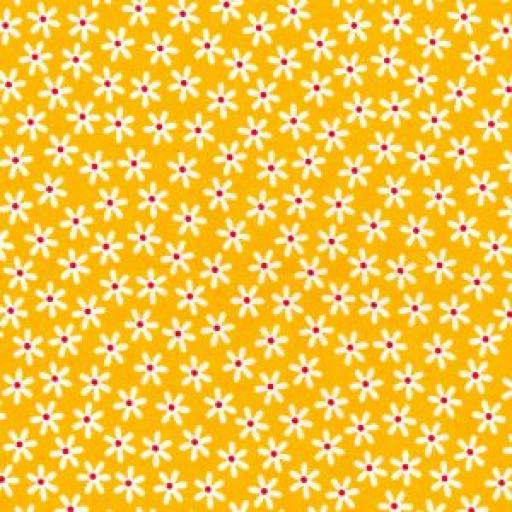 Yellow daisy cotton poplin