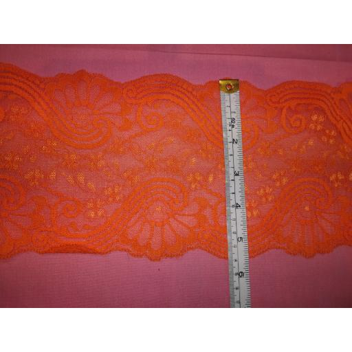 Lace trim-orange double scallop