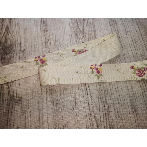 Roses natural ribbon