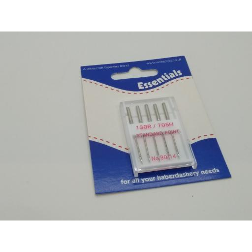 Standard machine sewing needles size 90s