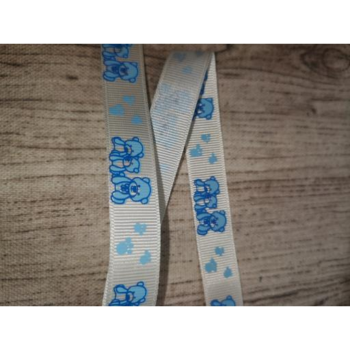Teddy bear grosgrain ribbon