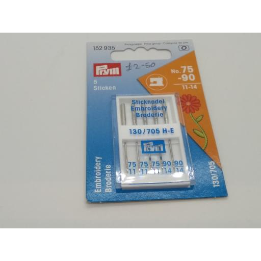 Embroidery machine needles by Prym