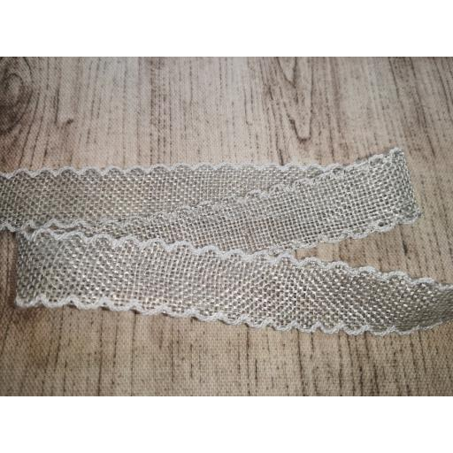 Picot trim natural ribbon