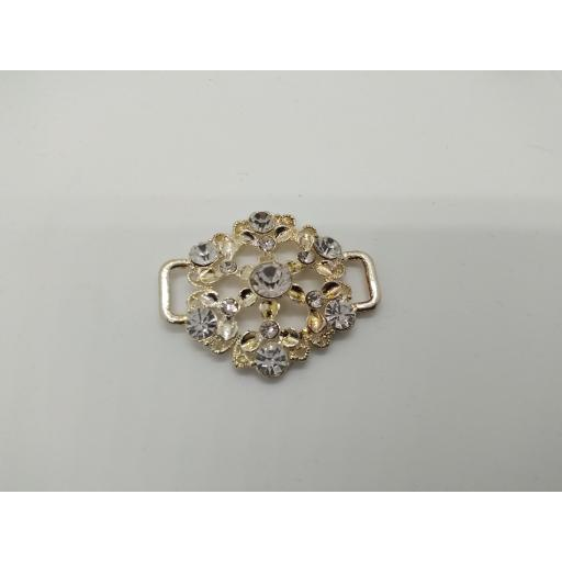 Diamante belt buckle