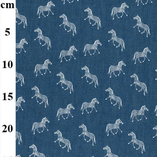 Zebra Printed denim fabric