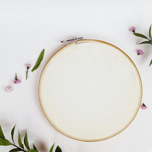 Embroidery hoop, wooden size 8cm