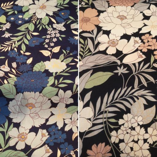 Large floral cotton poplin fabric by Rose and Hubble