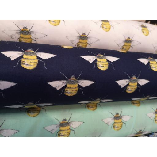 Bees cotton poplin fabric