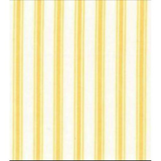 Yellow stripe cotton poplin