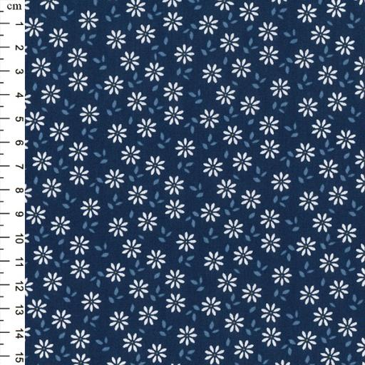 Navy Floral 100% cotton fabric by John Louden