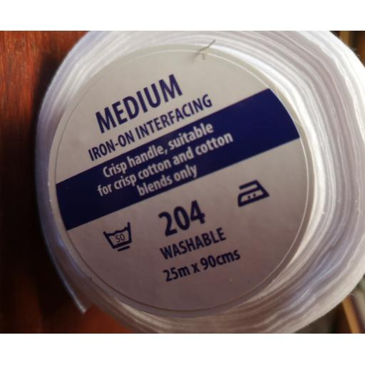 Medium weight interlining-iron on