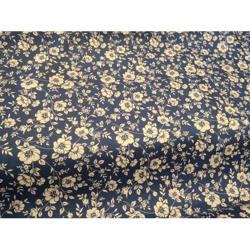 Copen medium floral cotton poplin