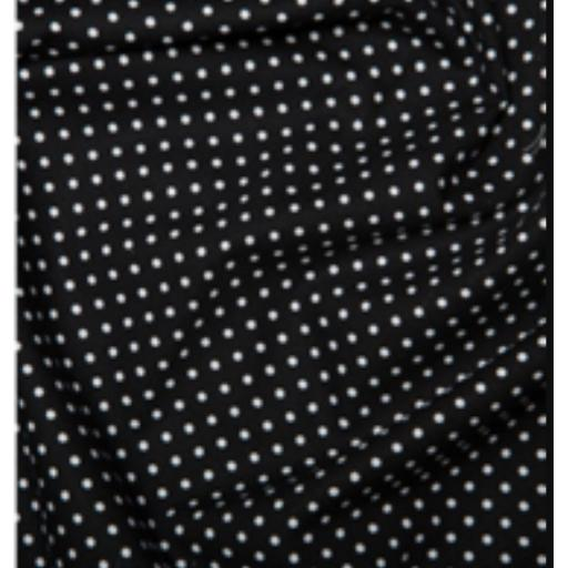 Black spot cotton poplin fabric by Rose and Hubble