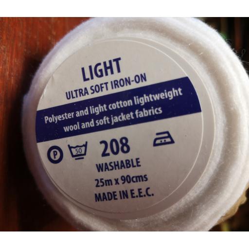Ultra light weight interlining-iron on