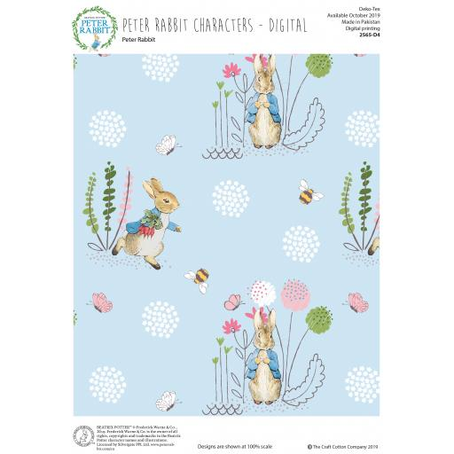 Peter Rabbit craft cotton fabric
