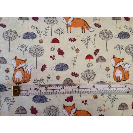 Green Foxes craft cotton