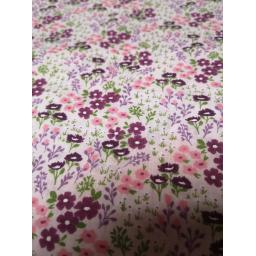 Pink flowers, floral polycotton fabric.jpg