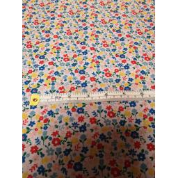 Cute flowers , polycotton fabric.jpg