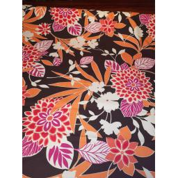 Brown large floral cotton lawn fabric.jpg