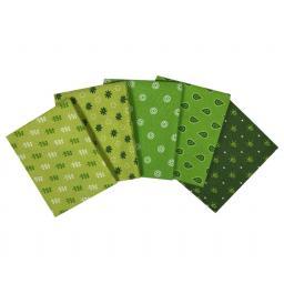 Tonal effects greens craft cotton fat quarter set.jpg
