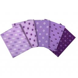Tonal effects purples craft cotton fat quarter set.jpg
