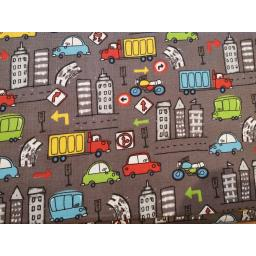 Cars and trucks, transport  print craft cotton fabric.jpg