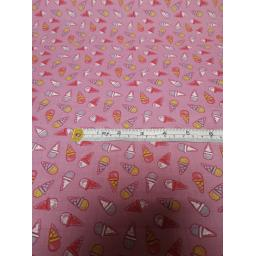 Pink Ice cream polycotton fabricjpg