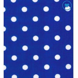 Royal blue large spot cotton poplin fabric.jpg
