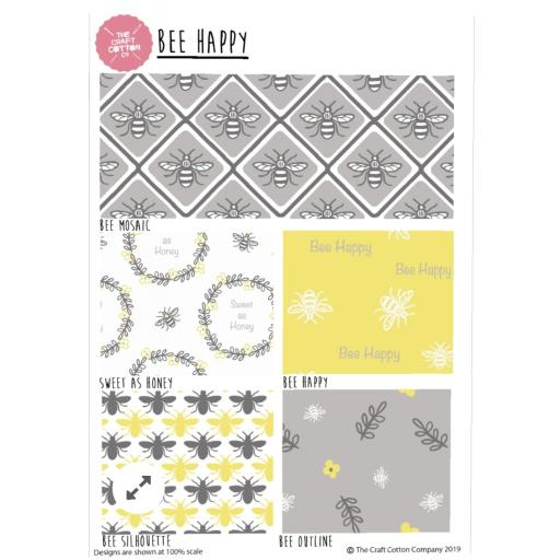 Bee Happy 5 piece fat quarter set