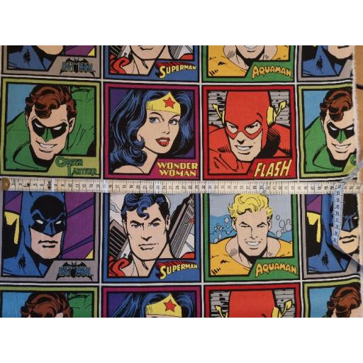 Large Tile Superhero craft cotton DC comics