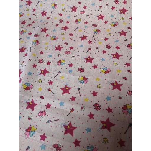 Fairytale princess cotton fabric
