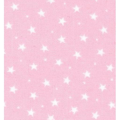 Baby pink star cotton poplin