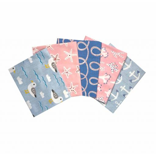 Hello summer 5 piece fat quarter set